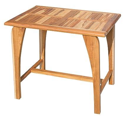 Amazon.com - EcoDecors Tranquility Teak Dining Table Indoor ...
