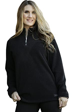 Lucky Love Women's Fleece Pullover Jacket, Half Zip Relaxed Fit ...