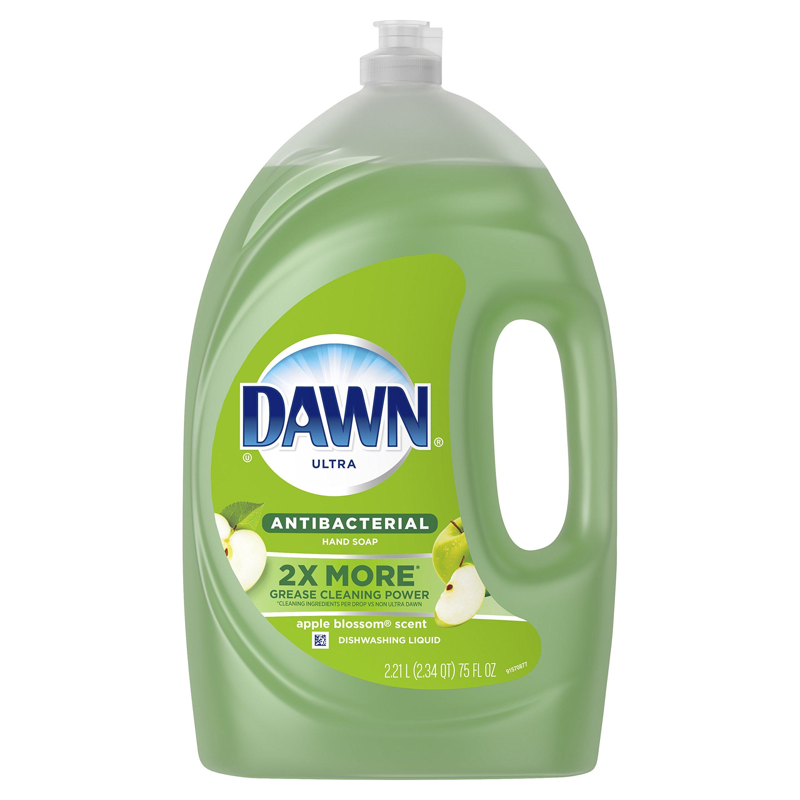 Dawn Ultra Apple Blossom Scent Dishwashing Liquid, 75 Fl Oz