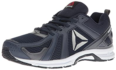 buy online 486ca 23ce2 Reebok Men s Runner Running Shoe, Collegiate Navy Ash Grey White Silver,
