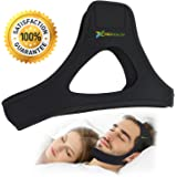 Stop Snoring Devices , Comfortable Adjustable Stop Snoring Chin Straps, Best Snoring Solutions for You (Black, Large)