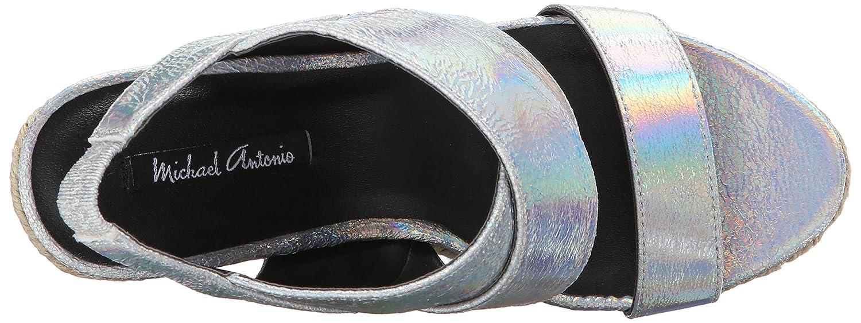 Michael Antonio Women's Gerey-Met Espadrille Wedge Sandal B017V6IUPW 7.5 B(M) US Silver