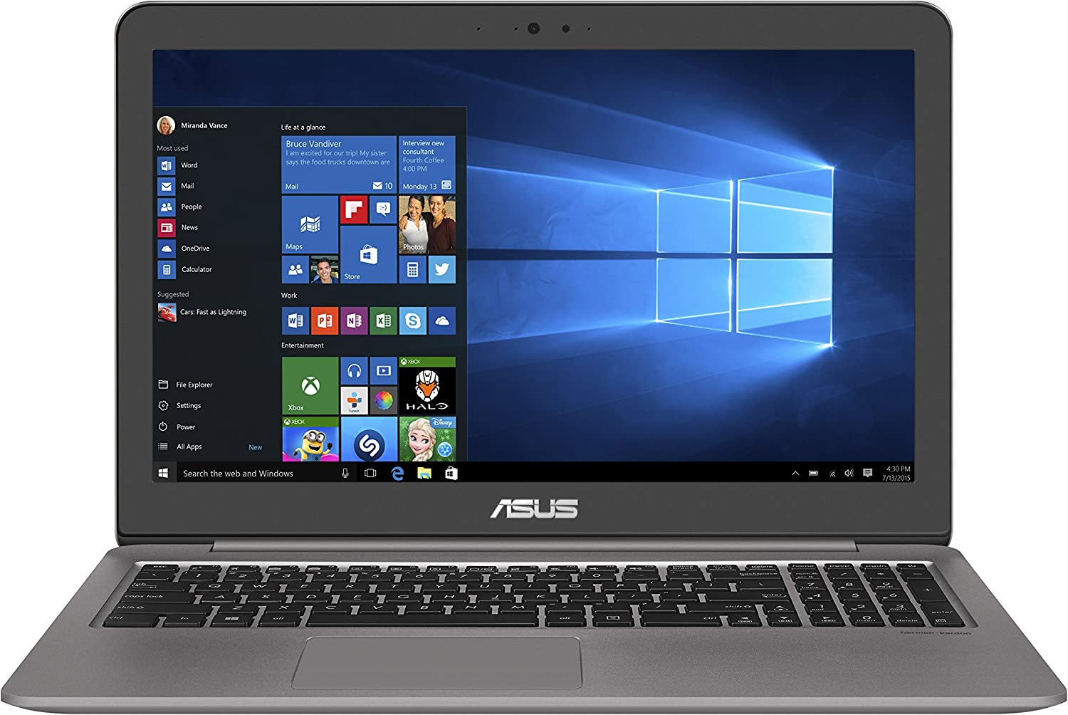 ASUS UX510UX-NH74 ZenBook 15 FHD UX510UX, Intel Core i7 Processor (up to 3.5GHz), 8GB DDR4, GeForce GTX 950M, 15.6