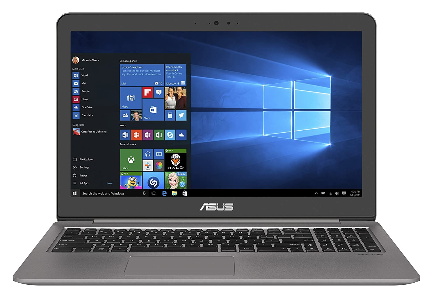 Best  Laptop Under 1000:ASUS UX510UX-NH74 ZenBook 15