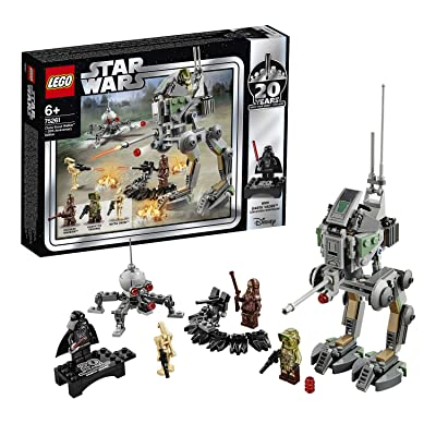 LEGO 75261 Star Wars Clone Scout Walker-20th Anniversary Edition Set, at-RT Walker, Dwarf Spider Droid, Colourful: Toys & Games