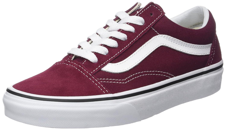 Vans Unisex Old Skool Classic Skate Shoes B06Y6K5GC8 10.5 B(M) US Women / 9 D(M) US Men|Burgundy / True White