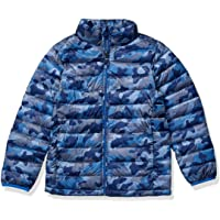 Amazon Essentials Boy's Lightweight Water-Resistant Packable Puffer Jacket