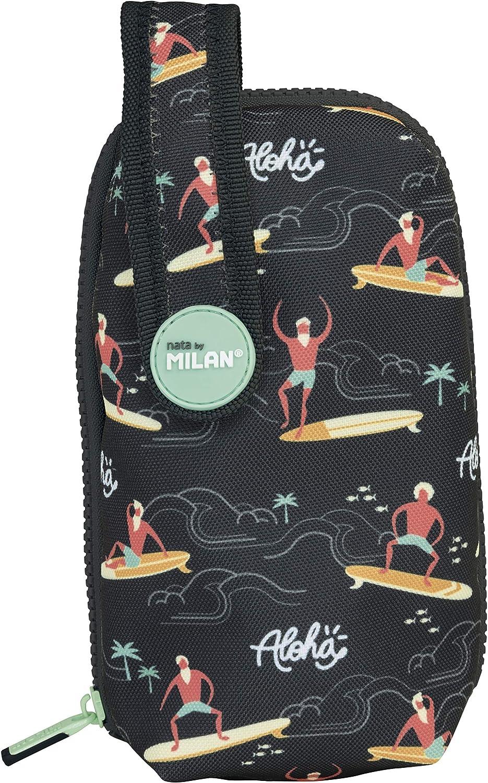 MILAN Kit Un Estuche Con Contenido Aloha Estuches, 19 cm, Negro: Amazon.es: Ropa y accesorios