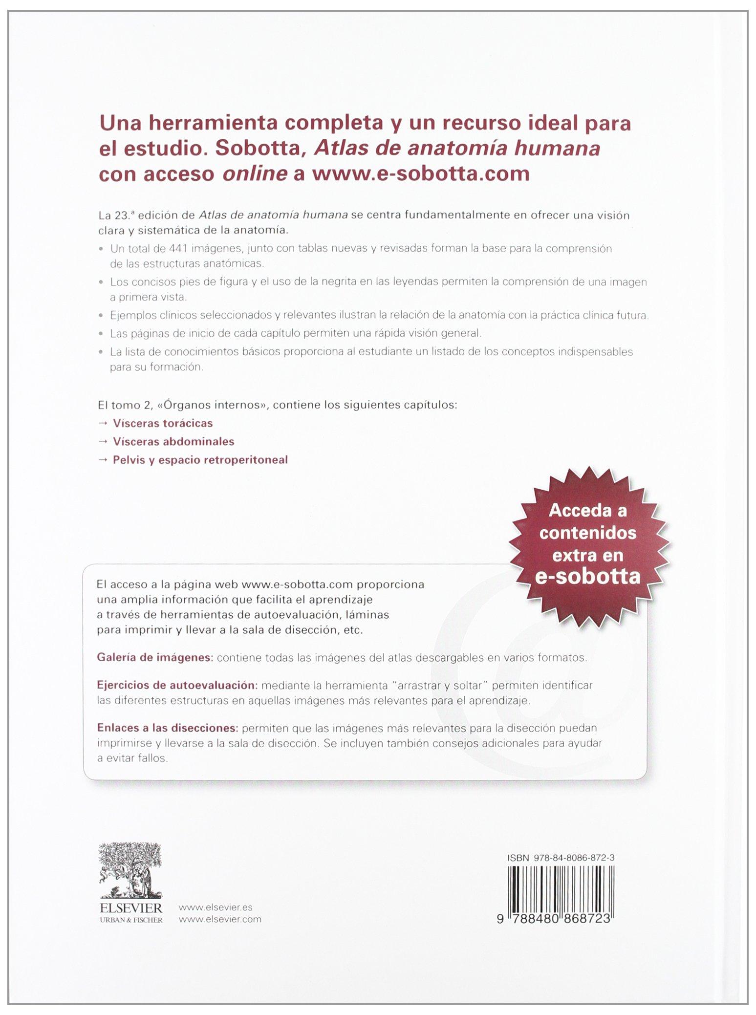 Amazon.in: Buy SOBOTTA. Atlas de anatomia humana, 3 vols. + acceso ...
