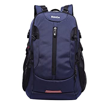 BanGe Hiking Backpack 40L Outdoor Waterproof Large Capacity Travel Laptop  Bag for Men (Dark blue ed132b9bab4be