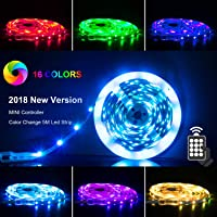 LED Strip RGB 5m LED Licht Streifen SMD 5050 Leds mit Netzteil, Fernbedienung Led stripes Lichtband Leiste Band Beleuchtung