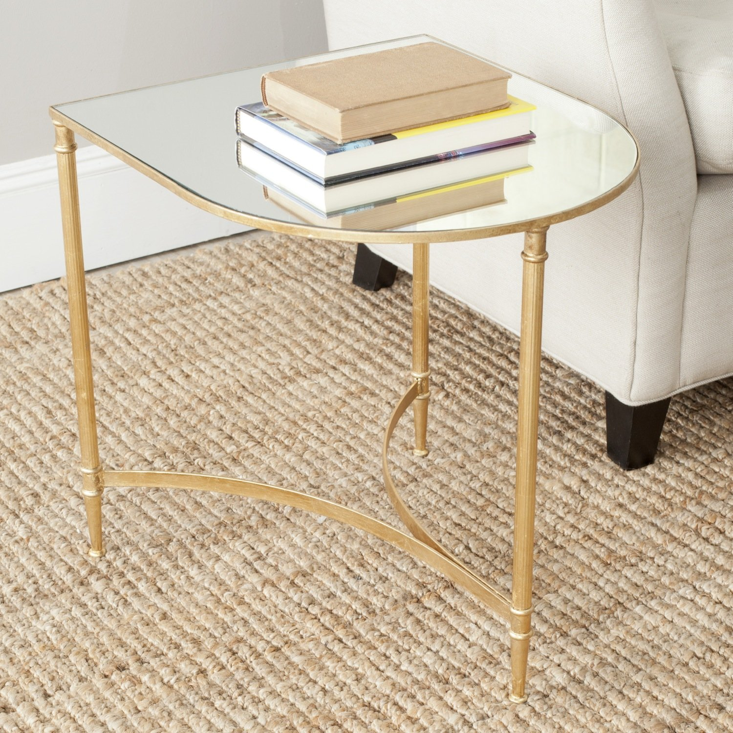 Amazon.com: Safavieh Home Collection Nevin Gold Accent Table: Kitchen U0026  Dining