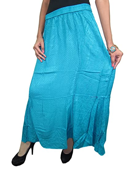 d28d803dd6 Image Unavailable. Image not available for. Color: Mogul Interior Boho  Peasant Skirt ...