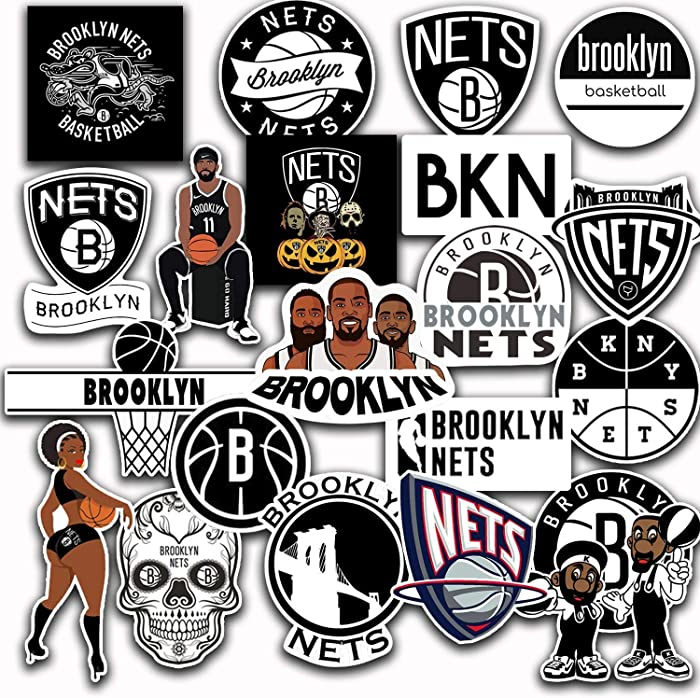 21 PCS Set of Brooklyn Decal Nets Stickers Pack Brooklyn Vinyl Nets 2-2.5 inches
