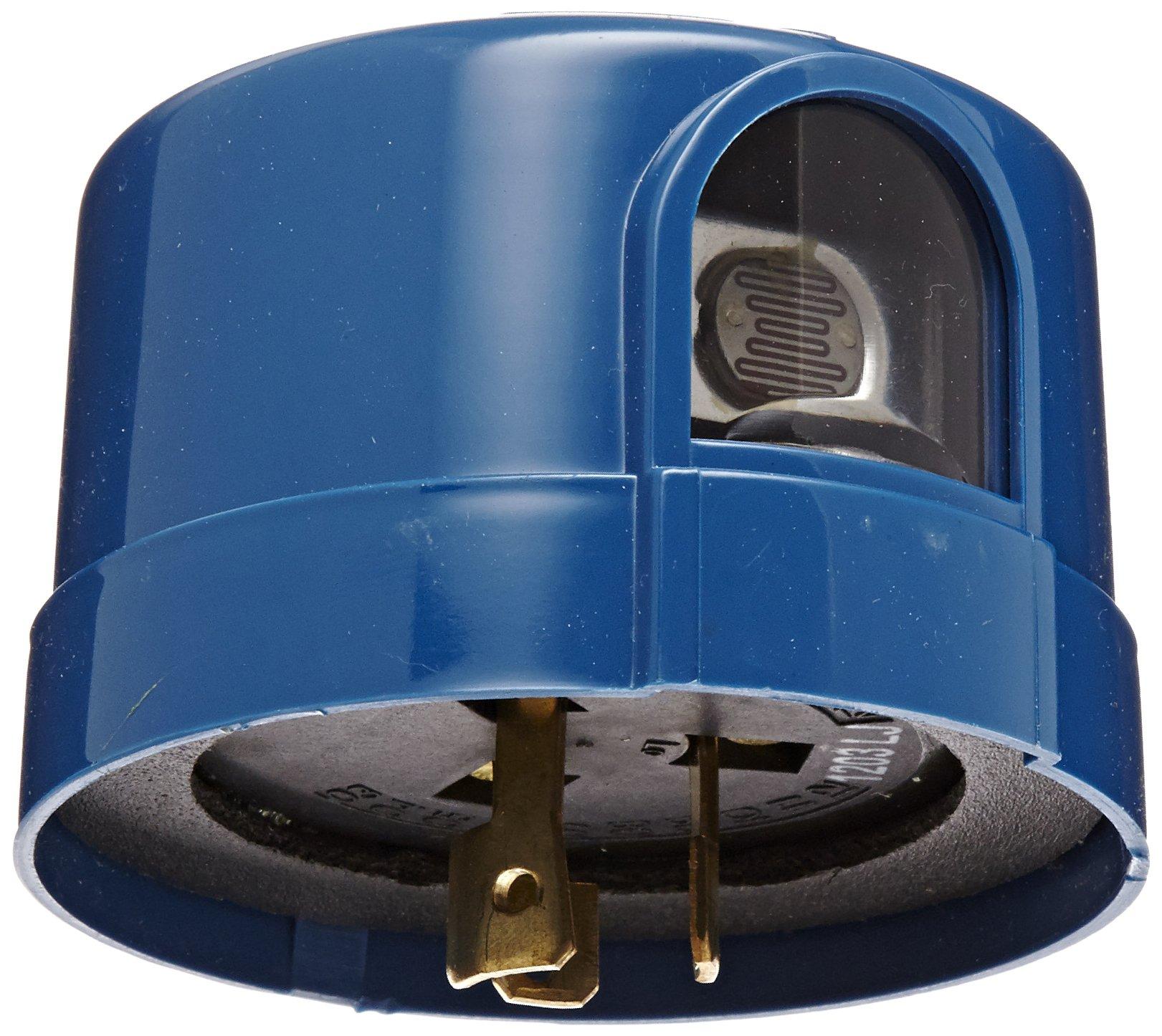 5000M Series Delayed Response Utility Grade Mov Surge Arrestor Photocontrol, 1800VA, 2080-2770VA Ballast, 1/2'' Light Sensor, 2000W Power, 105-130/208-285VAC Voltage, Blue (Note: This item is not designed for use with LED lighting)