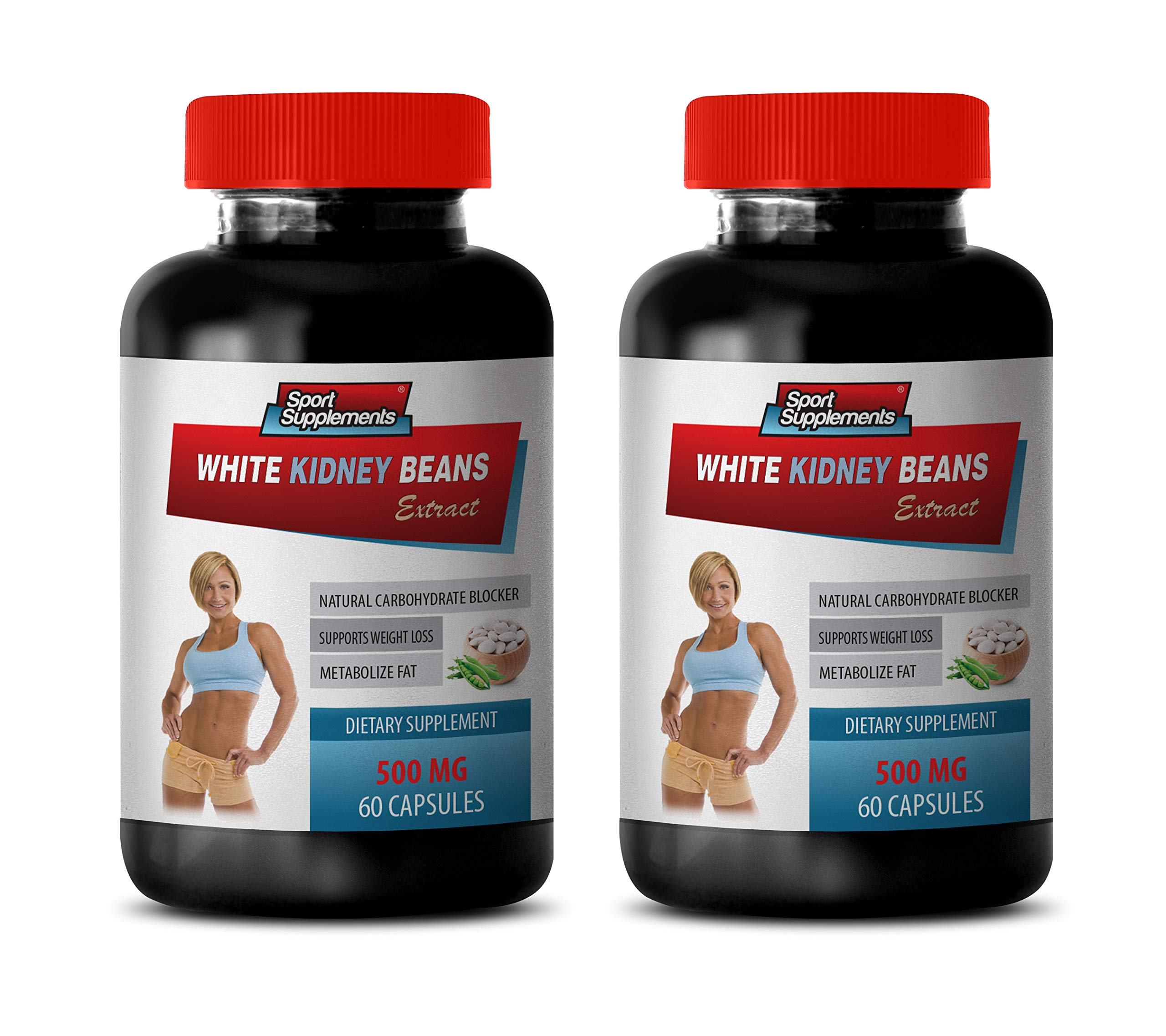 carb blockers Weight Loss for Women - White Kidney Beans Extract - Dietary Supplements - Weight Loss Pills Without Exercise - 2 Bottles (120 Capsules)