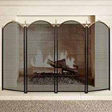 fireplace screens with doors. Large Gold Fireplace Screen 4 Panel Ornate Wrought Iron Black Metal Fire Place Standing Gate Decorative Screens With Doors R
