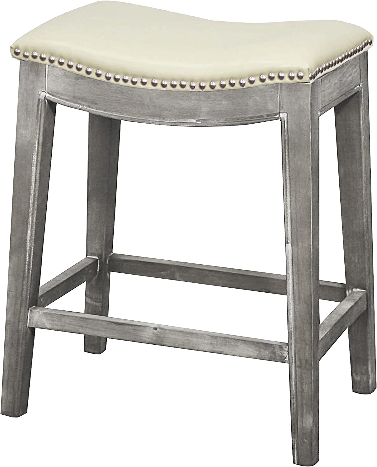 New Pacific Direct Elmo Bonded Leather Counter Stool, Beige