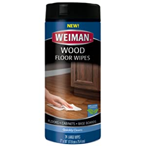Weiman Wood Floor and Furniture Wipes - Quickly Cleans Hardwood Floors, Cabinets and Baseboards - 24 Count