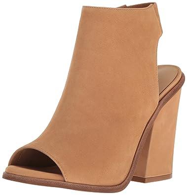 Steve Madden Women's VALENCIA dress Sandal, NATURAL Nubuck, ...