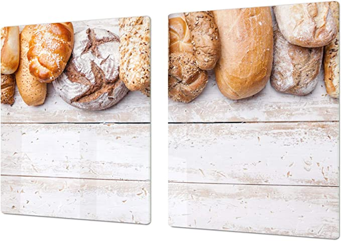 Gigantic KITCHEN BOARD /& Induction Cooktop Cover Breads 6