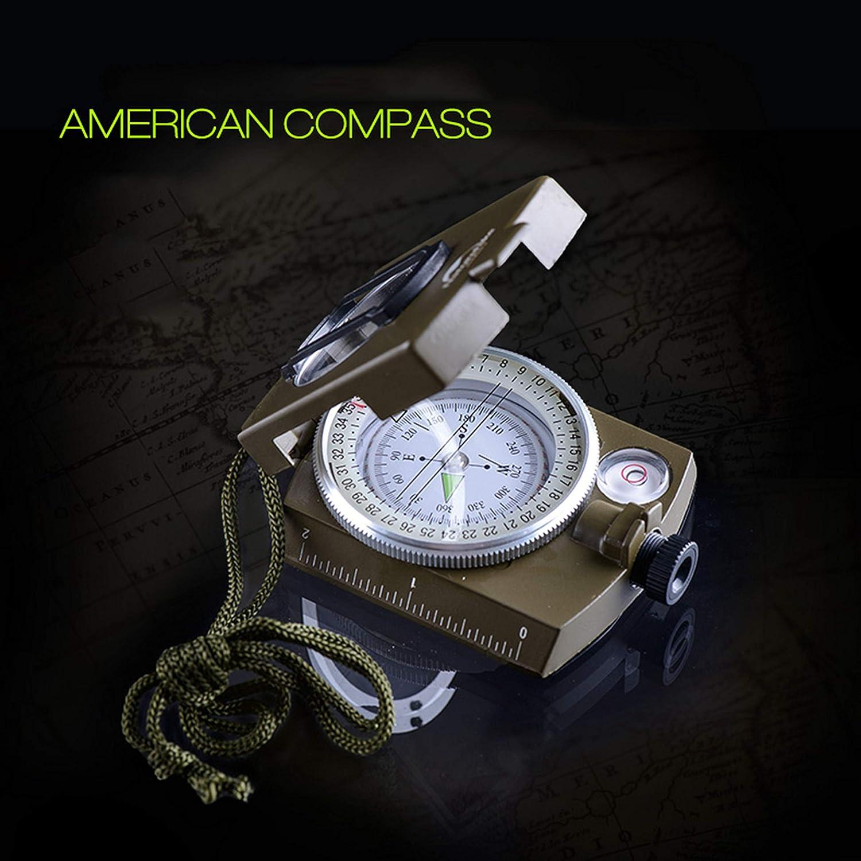 LIANGJING Outdoor-Kompass Professioneller Hochpr/äziser Handkompass Leuchtkompass