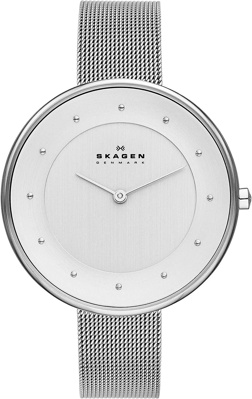 Skagen Reloj Analógico para Mujer de Cuarzo con Correa en Acero Inoxidable SKW2140