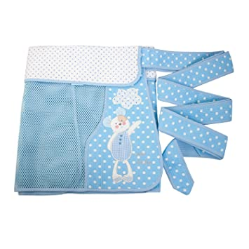 cd3074ead46 Amazon.com   Lulu Mesh Podaegi Asian Style Baby Carrier Baby Sling Toddler  Blue   Baby