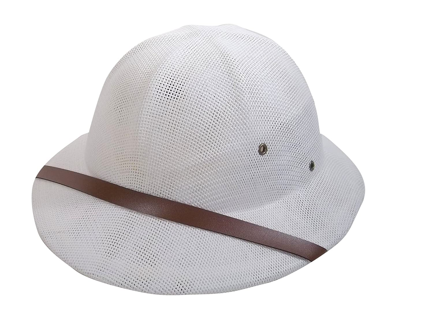 Jacobson Hat Company Men's Adult Pith Helmet White 20624 WHAJ
