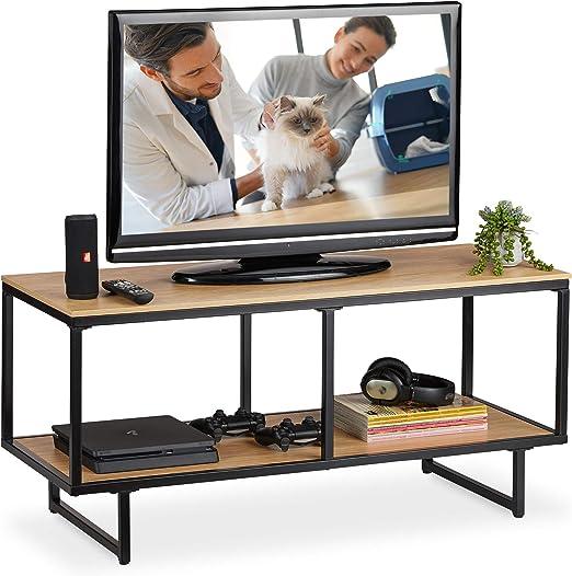 Relaxdays, 50,5 x 110,5 x 45,5 cm, Mueble TV de diseño Industrial ...