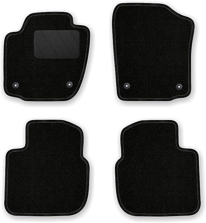 Bär Afc Sk05545 Classic Auto Fußmatten Nadelvlies Schwarz Rand Kettelung Schwarz Textiler Trittschutz Set 4 Teilig Passgenau Für Modell Siehe Details Auto