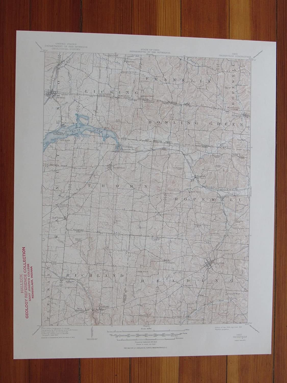 Amazon Com Thornville Ohio 1950 Original Vintage Usgs Topo Map