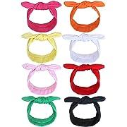 Baby Headbands, Baby Girls Knot Bow Headband, Baby Head Wraps Hair Accessories for Newborn Toddler Girls