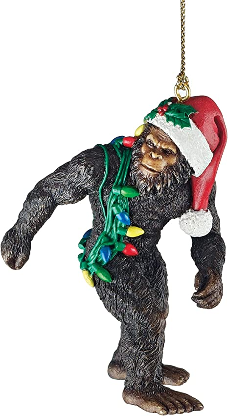 Design Toscano Bigfoot The Christmas Yeti With Sabta S Hat Funny Christmas Tree Decoration Polyresin Full Color 7 5 Cm Amazon Ca Home Kitchen
