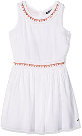 Tommy Hilfiger Endearing Sun Dress Slvls, Robe Fille, (Bright White 123), 164 (Taille Fabricant: 14)