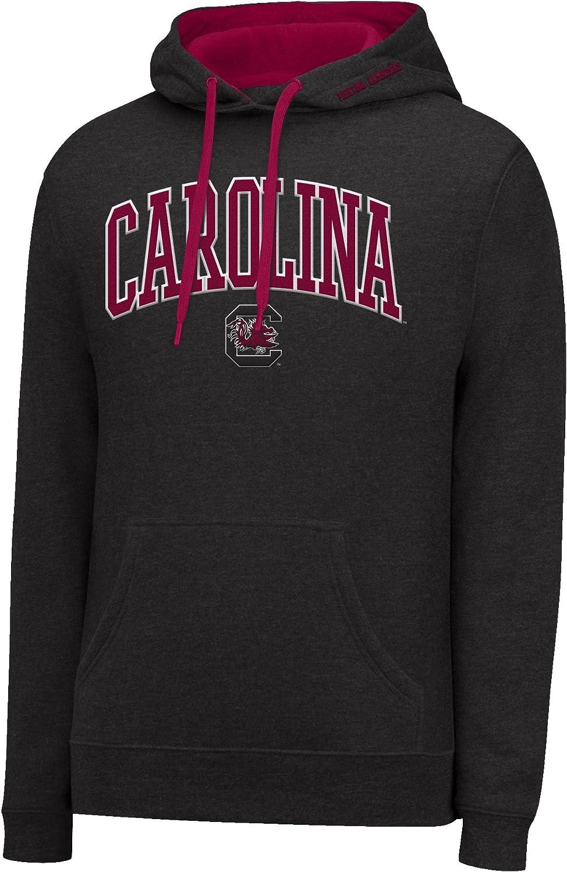 Medium Black HTR//Garnet J America NCAA South Carolina Fighting Gamecocks Mens Single Dye Arched School Name Twill Hoodie