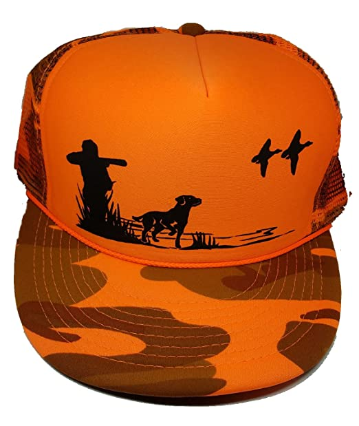 cdce7b1def8cb4 Image Unavailable. Image not available for. Color: Dog & Hunter Orange  Camouflage Camo Mesh Trucker Hat Cap