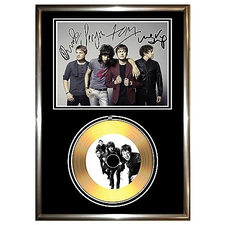 SLIPKNOT SIGNED FRAMED GOLD VINYL RECORD CD /& PHOTO DISPLAY