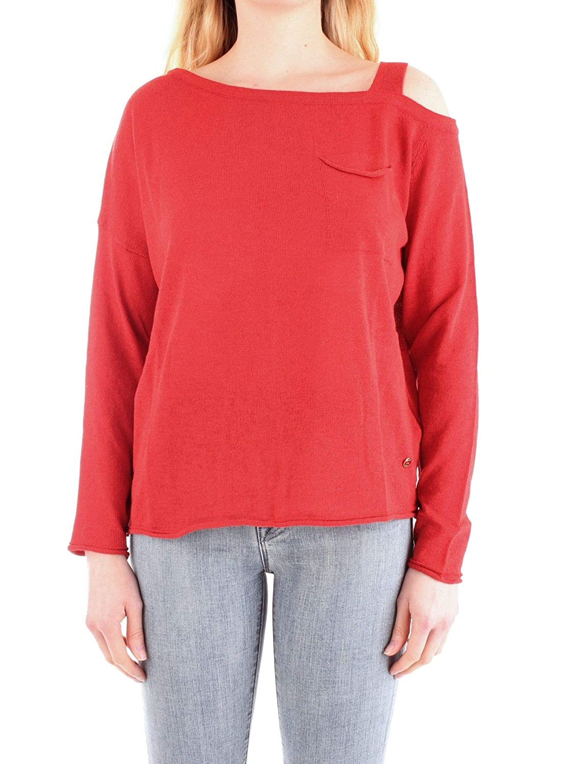 Fly Girl Women's 1043901red Red Cotton Jumper