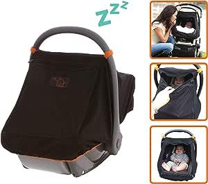 Baby Capsule Sunshade   Blocks up to 99% UV   Gives 360-degree Sun Protection and Helps Baby Sleep - SnoozeShade