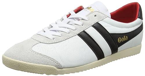 Gola Bullet Nylon, Zapatillas para Hombre, Blanco (White/Black/Red), 45 EU