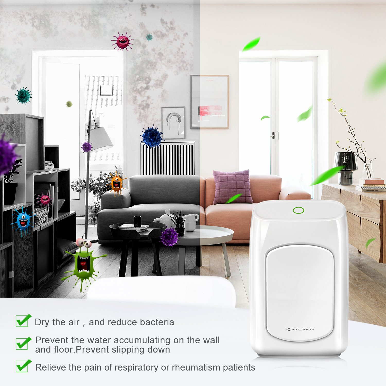 MYCARBON Small Dehumidifier Dehumidifier 1200 Cubic Feet Portable Dehumidifier Energy Efficient Ultra Quiet for Bathroom Bedroom Basements Baby Room RV Mini Dehumidifier 700ml 24fl.oz 215 sq ft