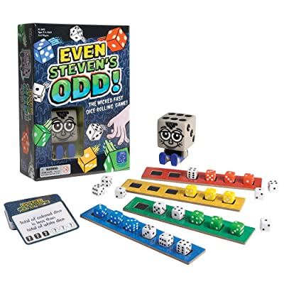 Educational Insights Even Steven\'s Odd, Dice-Rolling Challenge Game, Fun & Fast-Paced Family Game: Toys & Games [5Bkhe0305703]