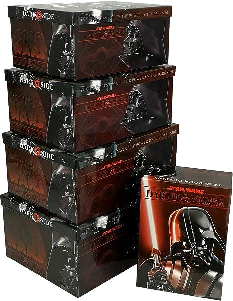 Disney - Star Wars - Cajas de cartón con Tapa (5 Unidades, 5 tamaños Diferentes): Amazon.es: Hogar