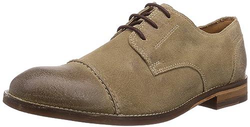Con Cordones De Exton Cuero HombreColor Zapatos Clarks Cap Gris TlFcK1J3