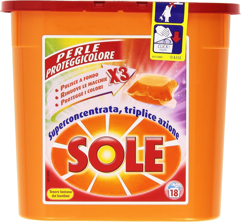 Sol – Perlas proteggicolore, Detergente para lavadora (18 monodosi ...
