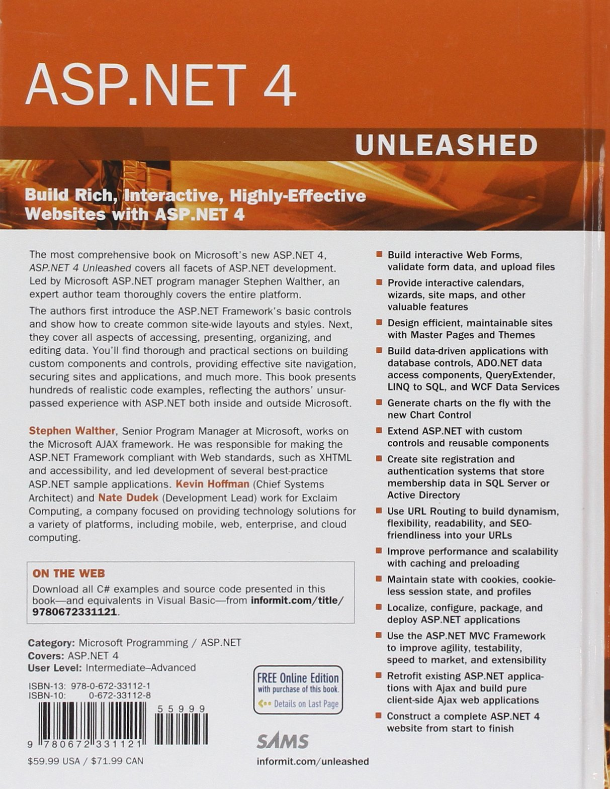 Buy ASP.NET 4 Unleashed Book Online at Low Prices in India | ASP.NET ...