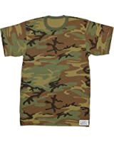 Army Universe Military Camouflage T-Shirt Camo Crewneck Tee Short Sleeve Top With ArmyUniverse Pin