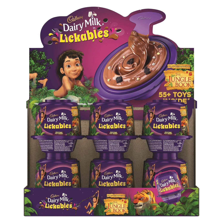 Cadbury Dairy Milk Lickables Chocolate, 20g (Pack of 12)