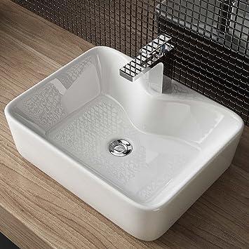 Waschbecken24 Design Keramik Aufsatz Waschbecken Waschtisch
